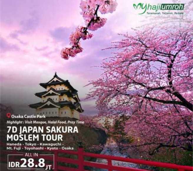Paket Wisata Muslim Jepang 2020