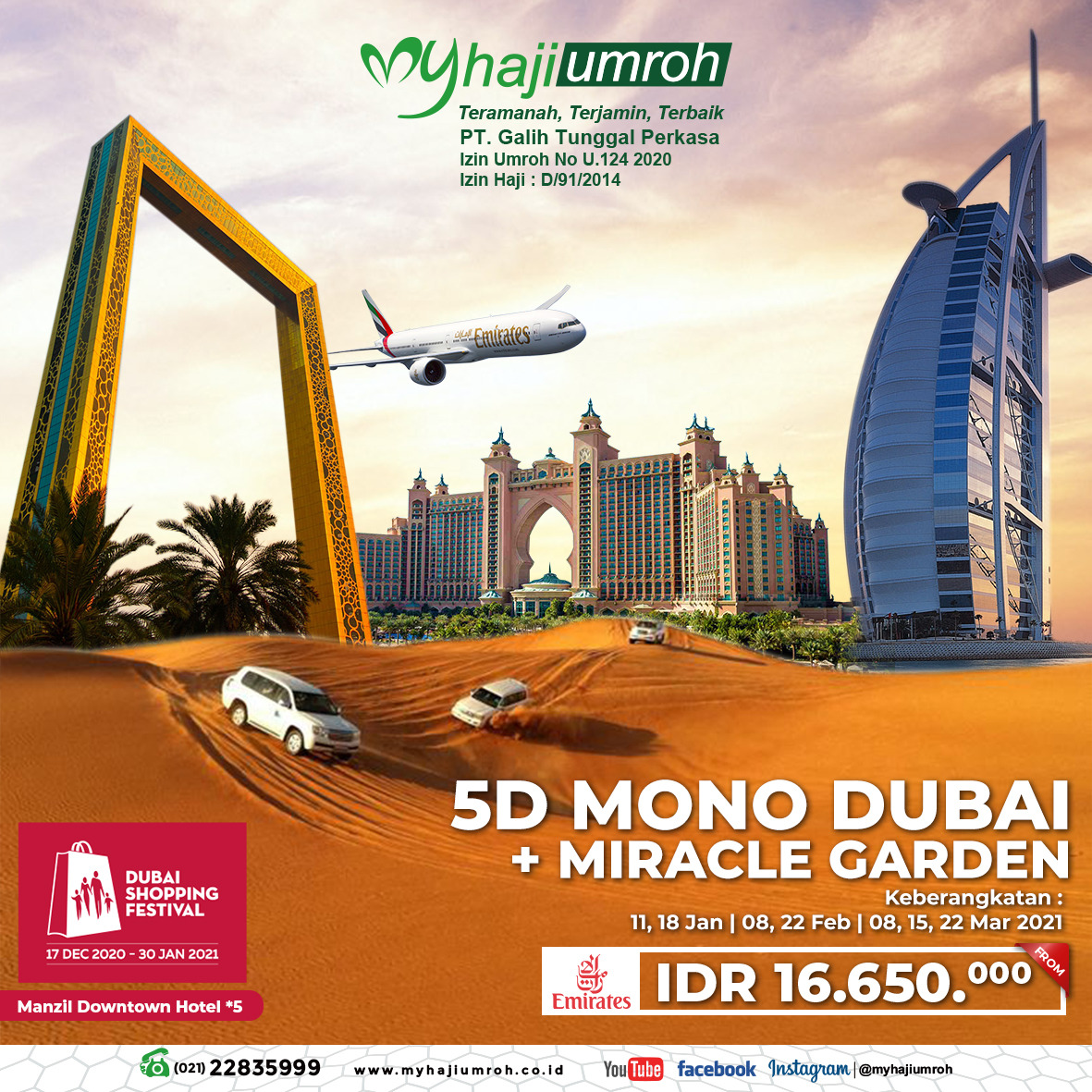 Paket Tour Dubai 2021